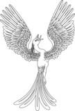 Monochrome phoenix poster