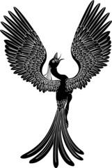 Monochrome phoenix