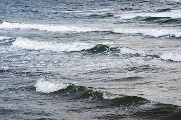 Surf waves and summer sea surface