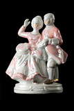 statuette from porcelain poster
