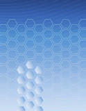 Hexagon Blue Background poster