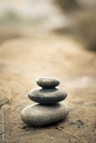 Foto op Canvas Zen pebbles stacked