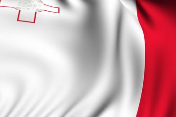 Rendered Maltese Flag