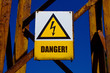 picture of warning board - DANGER