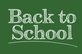 Back To School Illustrated on a Chalk Board. poster