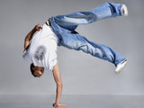 Fototapety stylish and cool breakdance style dancer posing