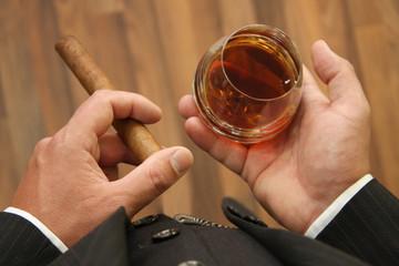 Business & Zigarre & Cognac