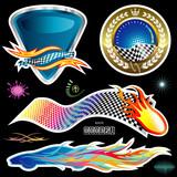 Automotive Sticker design, vector illustration layered file. poster