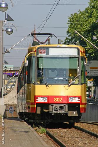 Leinwandbild Motiv Straßenbahn