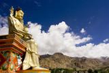 Buddha statue and Himalayas, Ladakh, India poster