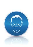 Panneau de protection obligatoire anti-poussière (reflet métal) poster