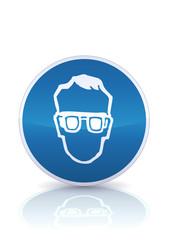 Panneau d'obligation de protection de la vue (reflet métal)