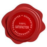 realistic wax seal with text: guarantee poster