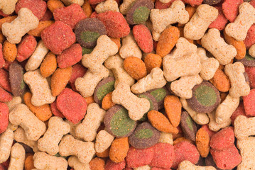 Colorful  Pet Food Detail Background