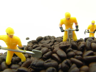 Moving the coffee beans
