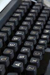 Close up of vintage typewriter keyboard