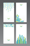 set of business cards, each card on separate layer poster