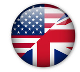 English language (British/American) button poster