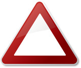 Caution Traffic Sign Blank poster