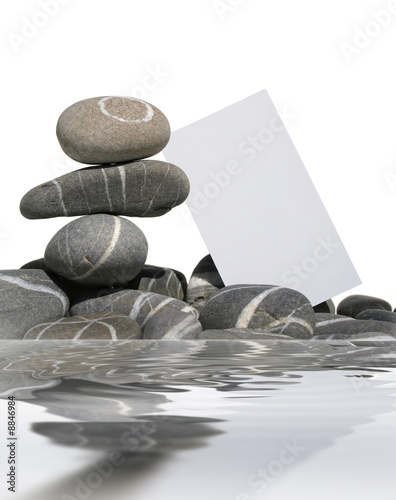 Foto op Canvas Zen carte blanche et galets gris