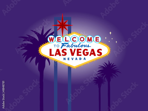 welcome to las vegas sign at night. of Las Vegas Welcome Sign
