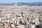 View and a shot of Athens from the Acropolis, Greece