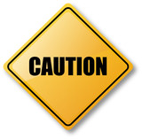 Caution Road Sign poster