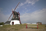 Old restored windmill on Danish island Mandoe poster