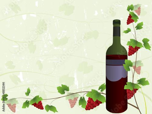 Fototapeta Wine menu