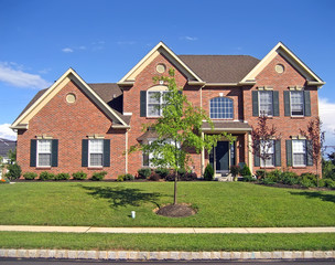 Large, upscale new home in the suburbs.