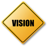 Vision Road Sign poster