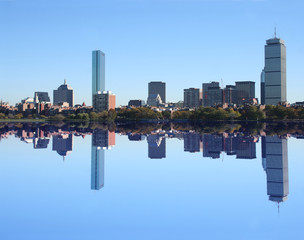 Boston Skyline reflected in Charles River