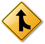 Merge Road Sign poster
