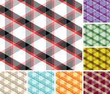 Big collection of seamless trigonal plaid patterns. Volume 7 poster