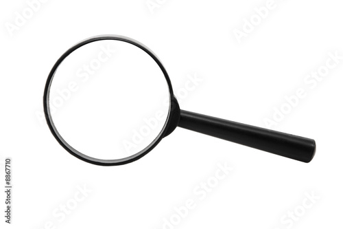 Magnifying glass isolated over a white background