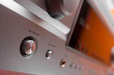 On/off switch of a hifi amplifier, shallow DoF