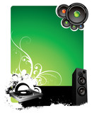 Fototapety green musical background for text placing