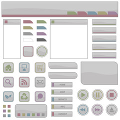 web elements in grey