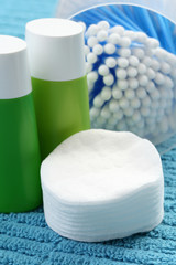 cotton swabs and cleaner - skincare - beauty treatment