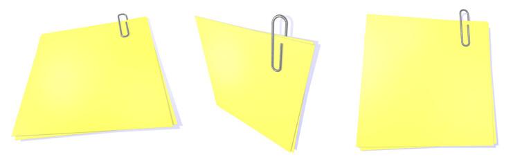 yellow post it