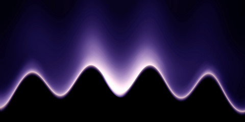 abstract sound wave on a dark background