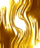 gold background with some smooth lines in it poster