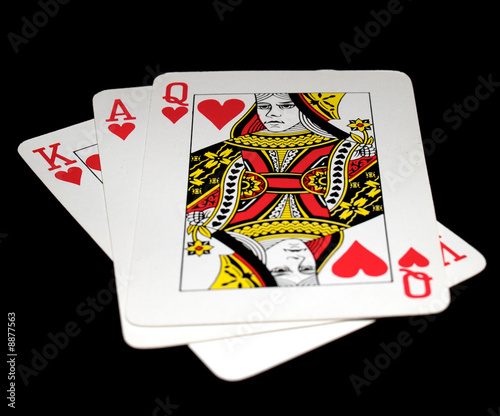Facecards: queen of hearts