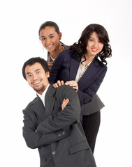 young successful businessteam - group of business people