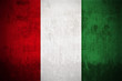 Weathered Flag Of Italy, fabric textured