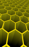 Vector illustration of yellow 3d abstract cells