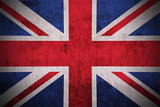 Weathered Flag Of United Kingdom, fabric textured poster