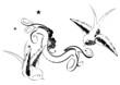 banner schablone vogel