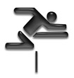 leichtathletik athletics hürde barrier symbol