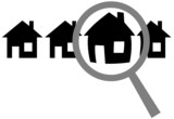 Magnifying Glass Finds Website Home Choose Inspect Row Houses poster